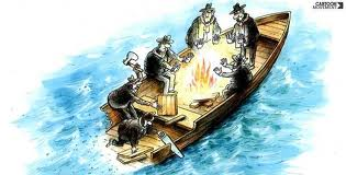 Roz Crisis Management Boat Cartoon