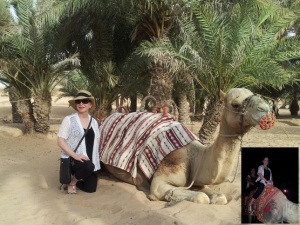 For me, and much to the appreciation of my Middle Eastern clients, embracing something new was actually getting (and staying) on the camel . . .