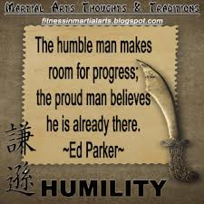 True humility is a sign of confidence and strength . . .