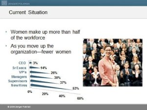 Women moving up the ladder