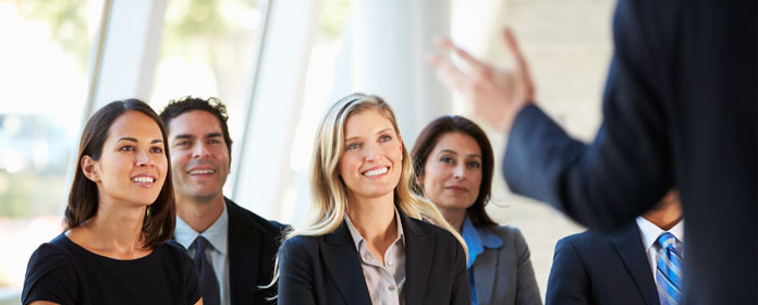 Happy Business Audience When it comes to publi...