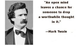 open-mindMarkTwain