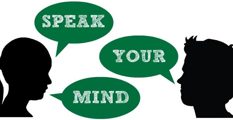 speak your mind Speak your mind — a weekly television series sponsored by the human development center, created to openly discuss mental health issues and to help reduce the stigma .